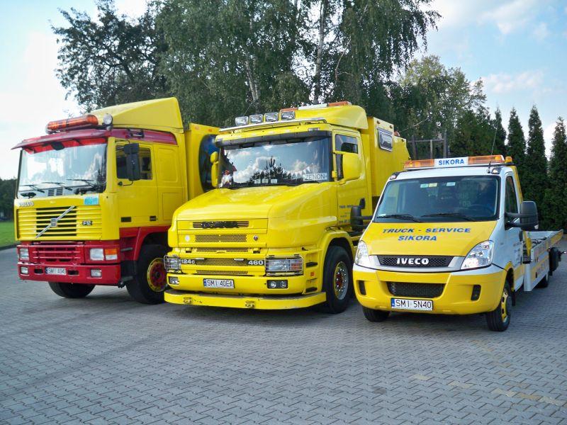 TRUCK-SERVICE  Sikora,      Pomoc Drogowa       ,holowanie naczep
